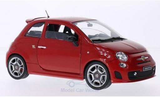 Fiat 500 F 1/18 Motormax Abarth red 2008 diecast model cars
