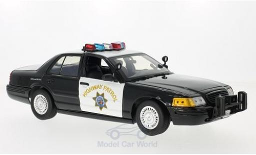 Ford Crown 1/18 Motormax Victoria Police Interceptor California Highway Patrol 2001 miniature