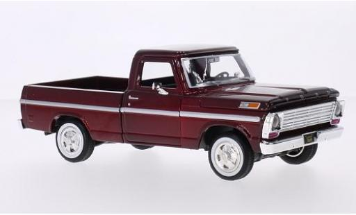 Ford F-1 1/24 Motormax 00 metallise rouge 1969 miniature