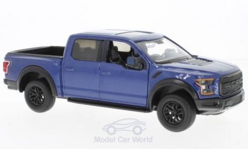 Ford F-1 1/24 Motormax 50 Raptor metallic-bleue 2017 miniature