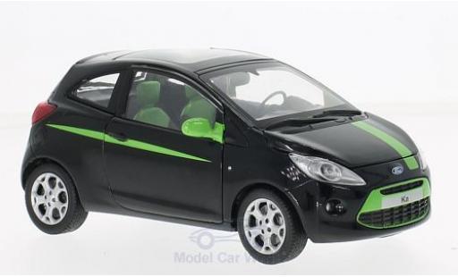 Ford Ka 1/24 Motormax noire/verte miniature