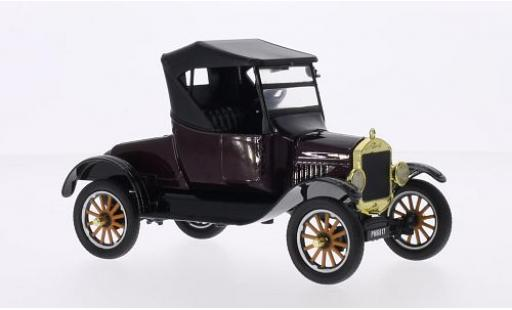 Ford Model T 1/24 Motormax Runabout metallise rouge/noire 1925 miniature