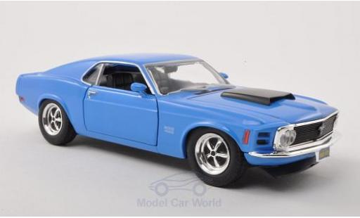Ford Mustang 1970 1/24 Motormax Boss 429 bleue miniature
