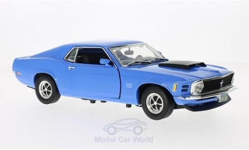 Ford Mustang 1/18 Motormax Boss 429 blu 1970 ohne Vitrine modellino in miniatura