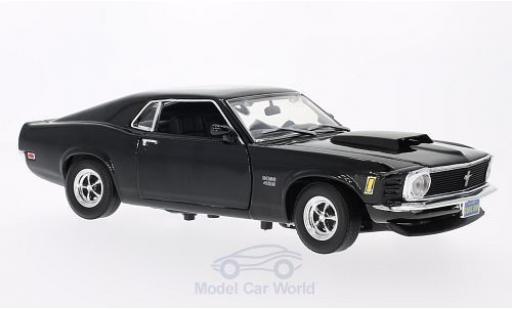 Ford Mustang 1/18 Motormax Boss 429 noire 1970 ohne Vitrine miniature