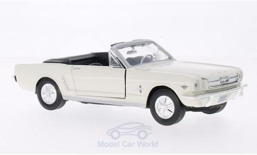 Ford Mustang 1/24 Motormax Convertible beige 1964 miniatura
