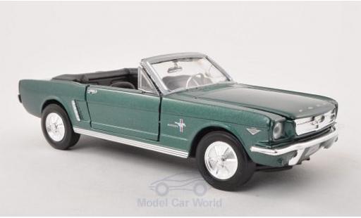 Ford Mustang 1/24 Motormax Convertible métallisé verte 1964 miniature