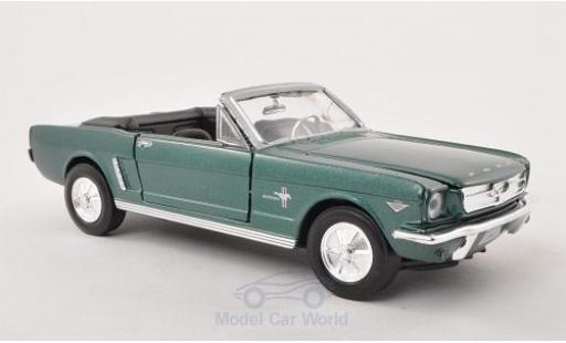 Ford Mustang 1/24 Motormax Convertible metallise verte 1964 miniature