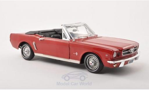 Ford Mustang 1/18 Motormax Convertible rouge 1964 miniature