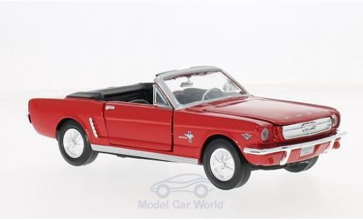Ford Mustang 1/24 Motormax Convertible rosso 1964 ohne Vitrine modellino in miniatura