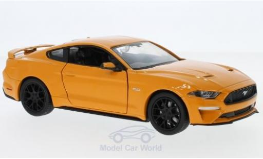 Ford Mustang 1/24 Motormax GT orange 2018 miniature