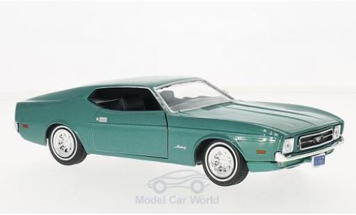 Ford Mustang 1/24 Motormax Sportsroof métallisé verte 1971 miniature