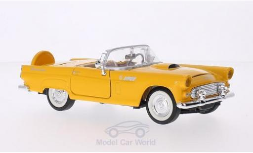 Ford Thunderbird 1956 1/24 Motormax yellow diecast model cars