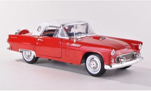 Ford Thunderbird 1/18 Motormax Hardtop rouge/blanche 1956 sans Vitrine