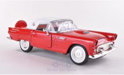 Ford Thunderbird 1/24 Motormax rouge/blanche 1956 miniature
