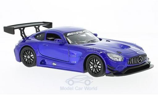 Mercedes AMG GT 1/24 Motormax 3 bleue miniature