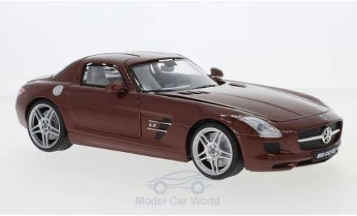 Mercedes SLS 1/18 Motormax AMG (C197) metallise marron miniature