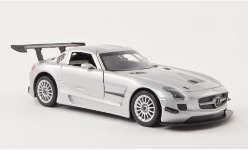 Mercedes SLS 1/24 Motormax AMG GT3 grise Plain Body Version sans Vitrine miniature