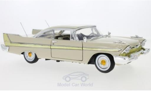Plymouth Fury 1/18 Motormax beige 1958 miniature