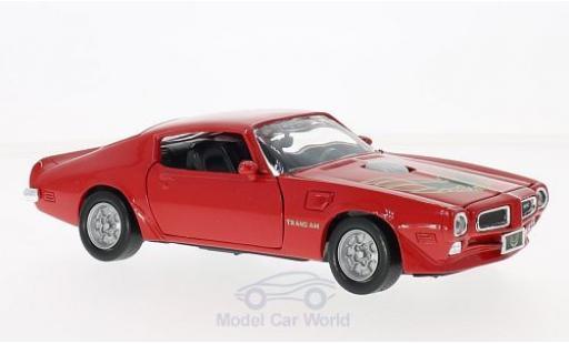 Pontiac Firebird 1973 1/24 Motormax Trans Am rouge/Dekor miniature