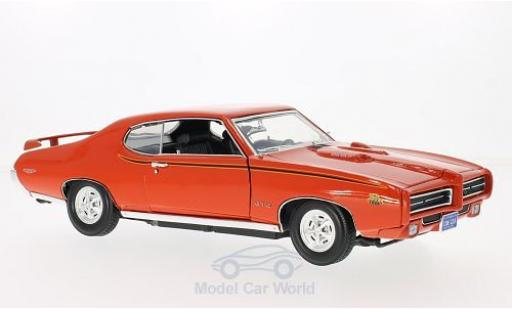 Pontiac GTO 1/18 Motormax Judge orange 1969 miniature