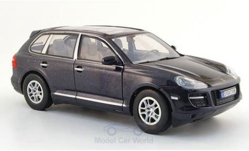 Porsche Cayenne 1/24 Motormax mettalic schwarz ohne Vitrine modellautos