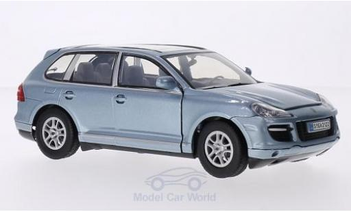 Porsche Cayenne Turbo 1/24 Motormax Turbo metallic-hellbleue miniature