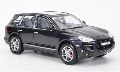 Porsche Cayenne Turbo 1/18 Motormax metallise noire miniature