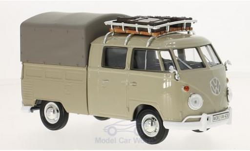 Volkswagen T1 B 1/24 Motormax dunkelbeige Pick Up mit Dachgepäckträger und Plane miniature