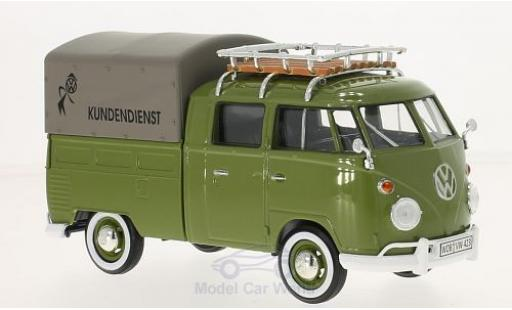 Volkswagen T1 A 1/24 Motormax Kundendienst Pick Up mit Dachgepäckträger diecast