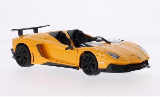 Lamborghini Aventador 1/24 MZ Model J metallise yellow 2013 diecast model cars