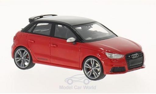 Audi S1 1/43 Neo Sportback rosso/nero 2014 miniatura