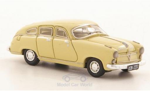 Borgward Hansa 2400 1/87 Neo beige 1952 miniature