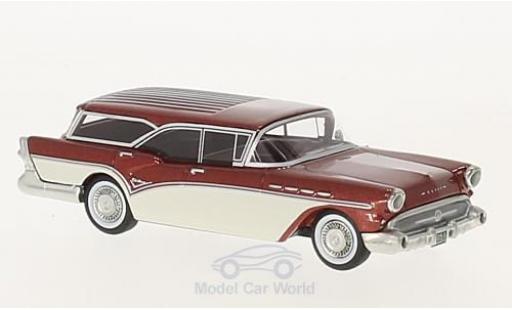 Buick Century 1/64 Neo Caballero Estate Wagon metallise rouge/blanche 1957 miniature