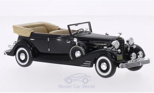 Cadillac Fleetwood 1/43 Neo Allweather Phaeton nero 1933 Verdeck geöffnet Neo Deluxe modellino in miniatura