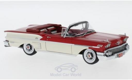 Chevrolet Bel Air 1/43 Neo Impala Convertible rouge/blanche 1958 miniature