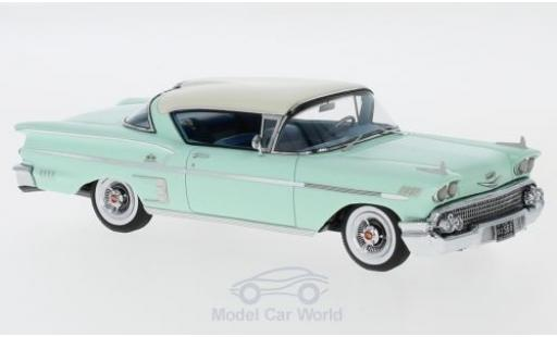 Chevrolet Bel Air 1/43 Neo Impala Sport Coupe verte/beige 1958 miniature