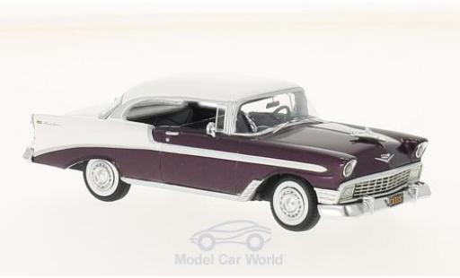 Chevrolet Bel Air 1/43 Neo Sport Coupe blanche/metallic-dunkelrouge 1956 miniature