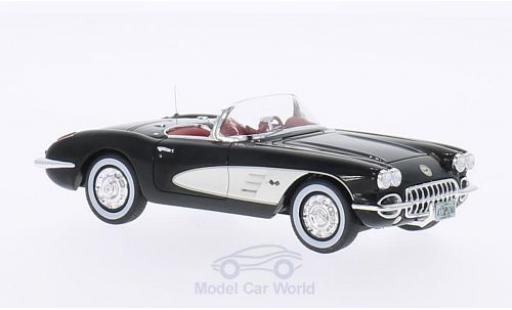 Chevrolet Corvette 1/43 Neo C1 schwarz/weiss 1959 modellautos