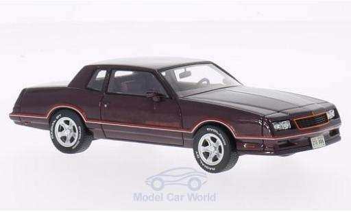 Chevrolet Monte Carlo 1/43 Neo SS metallic-dunkelrot 1986 modellautos