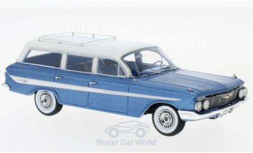 Chevrolet Nomad 1/43 Neo Station Wagon metallise bleue/blanche 1961 miniature
