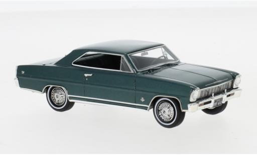 Chevrolet Nova 1/43 Neo SS Hardtop metallise green 1966 diecast model cars