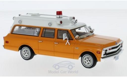 Chevrolet Suburban 1/43 Neo Ambulance orange/blanche 1970 miniature