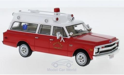 Chevrolet Suburban 1/43 Neo Ambulance rouge/blanche Hillside Fire Department 1970 miniature