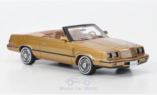 Dodge 600 1/43 Neo Convertible gold 1984 miniature