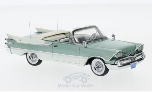 Dodge Custom Royal Lancer 1/43 Neo Convertible metallise green/white 1959 diecast model cars