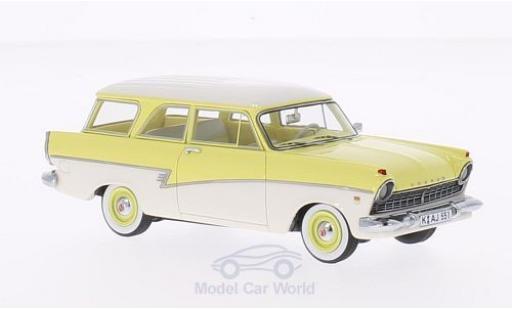 Ford 17M 1/43 Neo (P2) Turnier jaune/blanche 1957 miniature