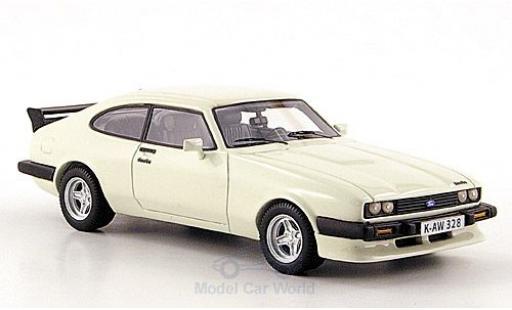 Ford Capri 1/43 Neo MK III Turbo blanche 1981 miniature