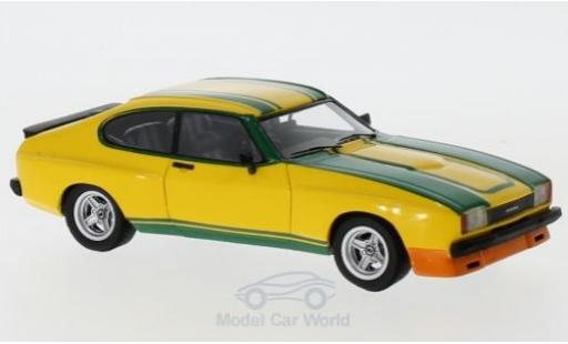 Ford Capri 1/43 Neo MKII 3.0S X-Pack yellow/green 1976 diecast model cars