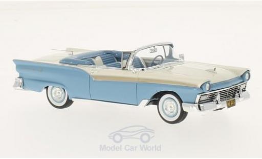 Ford Fairlane 1957 1/43 Neo 500 Convertible bleue/blanche miniature